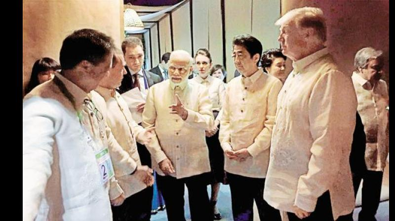 The ASEAN leaders later began deliberations at the summit which is taking place under the shadow of China's growing military build-up in the resource-rich South China Sea. (Photo: PTI)