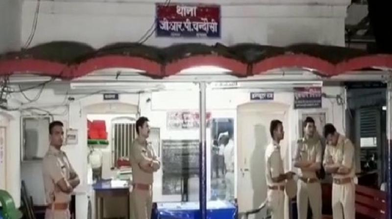 GRP personnel looted Rs 50,000 from a businessman. (ANI)
