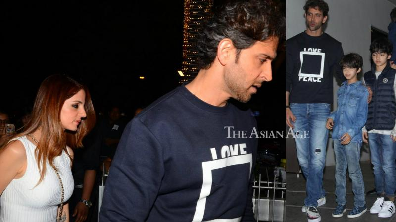 Hrithik celebrated his birthday on Tuesday and his close friends and relatives were snapped by shutterbugs. (Photo: Viral Bhayani)