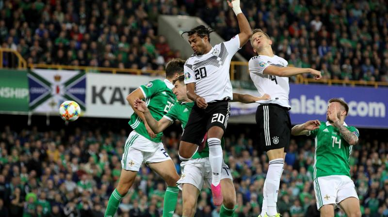 Serge Gnabry continued his impressive scoring run for Germany, netting in second-half stoppage time for his ninth goal in his 10th international, completing Germany's eighth consecutive win over Northern Ireland. (Photo:AFP)