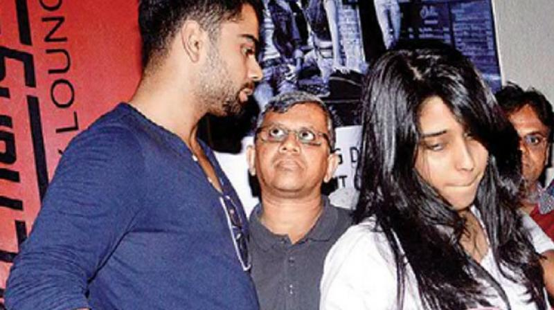 The report stated, six years back, Virat Kohli went out on a movie date with Indian vice captain's wife Ritika Sajdeh. (Photo:Twitter)