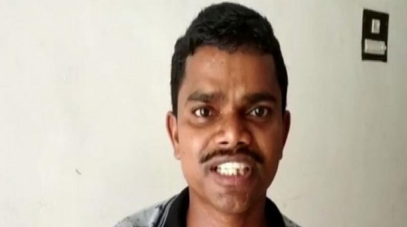Arjun worked as a Naxal cadre for almost 20-years before realizing that their ideology is not good for society. He was in charge of South Bastar division of the Chetna Natya Mandali, a cultural wing of the Naxalites before surrendered before police in Sukma on March 8. (Photo: ANI)