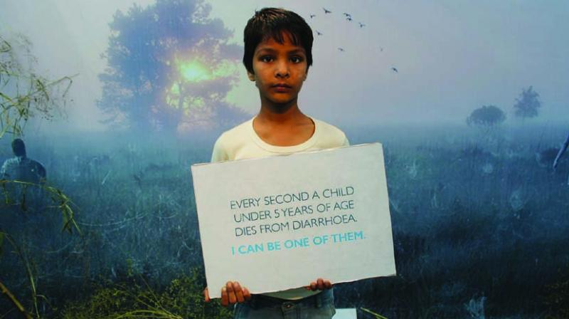 Children and women holding placards delivered the hard facts and adverse effects of open defecation.
