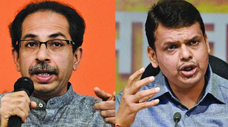 Though the Sena had been under pressure from its cadre to push for equal number of seats to contest, the BJP camp is unwilling to accede to its ally's demand. (Photo: File)