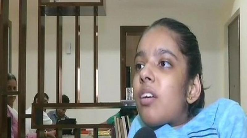 Anushka, a student of Suncity School Gurugram, is also a trained classical singer.  (Photo: ANI)