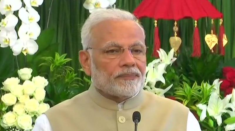 'Such tragic incidents give a message that it is the need of the hour to strengthen the efforts being taken on the global level to combat terrorism,' Modi said. (photo: ANI | Twitter)
