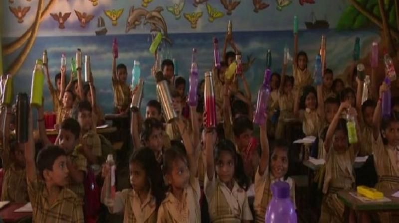 "Speaking to ANI, Jose MJ, Principal of Indraprastha Vidyalaya, said: ""It has been observed that as the temperature of the environment rises, so do several health complications like stomach pain and drowsiness."" (Photo: ANI)"