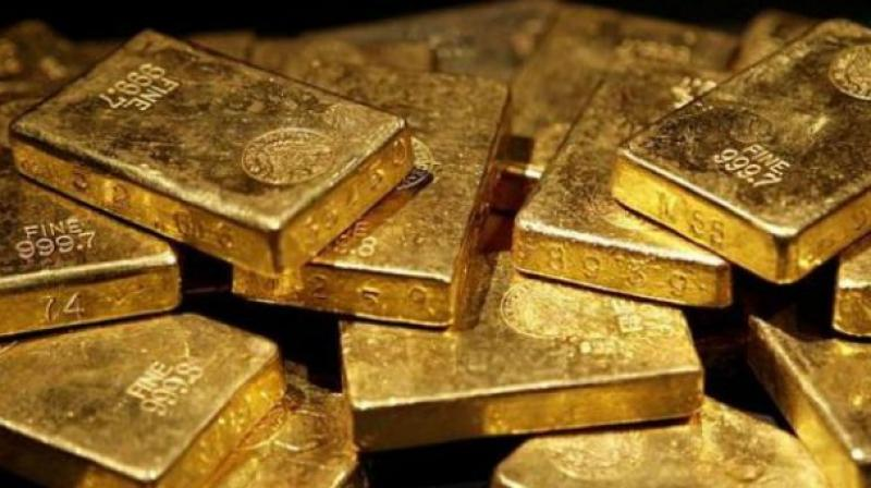 Sovereign held steady at Rs 24,400 per piece of eight grams.