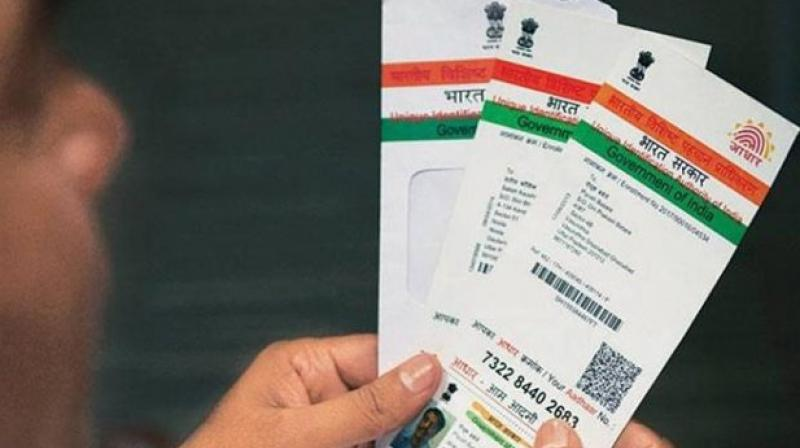 Prasad added that there have been instances of concerns being raised on the security of Aadhaar data. (Photo: PTI)