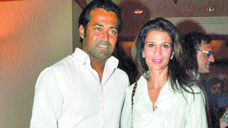 Leander Paes and Rhea Pillai in happier times.