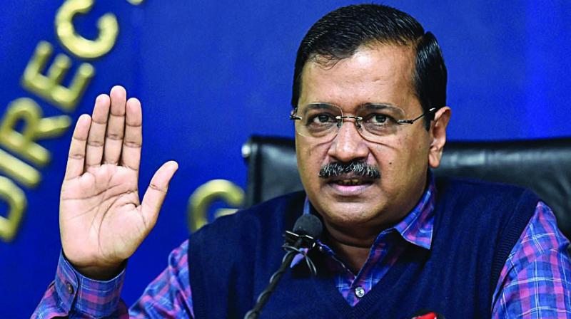 CM Arvind Kejriwal at a press conference on Friday. (Photo: PTI)