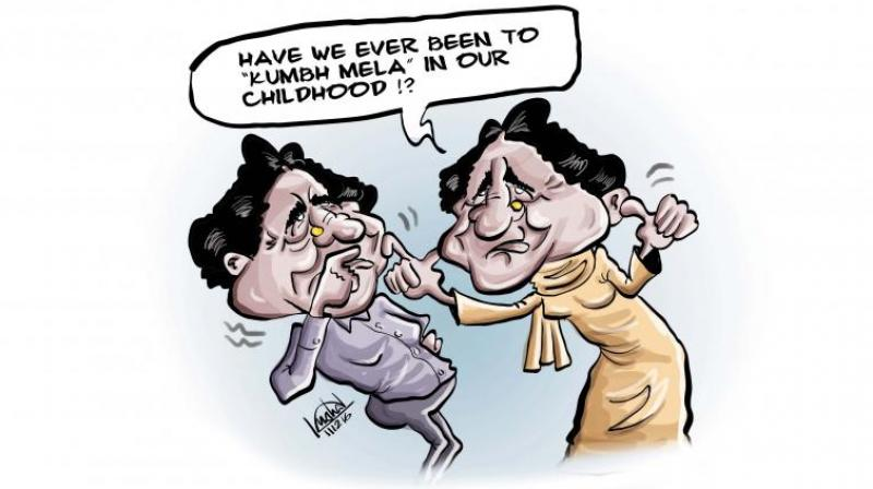 When Mayawati stepped out to address a function on B.R. Ambedkar's anniversary in Lucknow, she never imagined that there would be another star attraction apart from her.