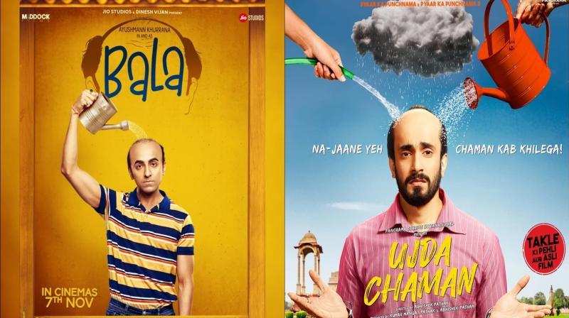 Posters of Bala and Ujda Chaman. (Photo: Instagram)