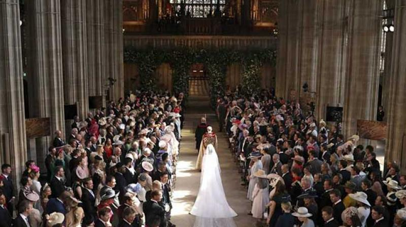 Trendy bowl food was also introduced at the royal wedding (Photo: AFP)
