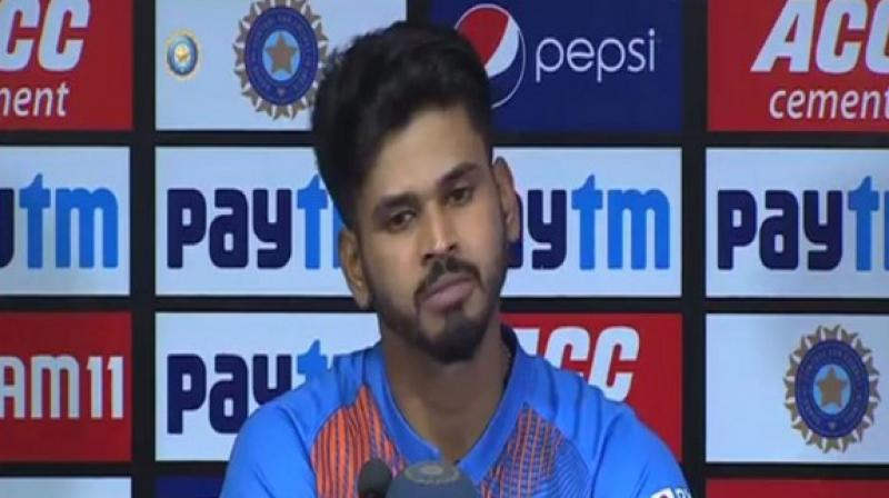 After registering a 30-run win over Bangladesh in the final T20I of the three-match series, India batsman Shreyas Iyer revealed that skipper Rohit Sharma gave a pep-talk to all team-mates and that proved as a motivation to win the match. (Photo:ANI)