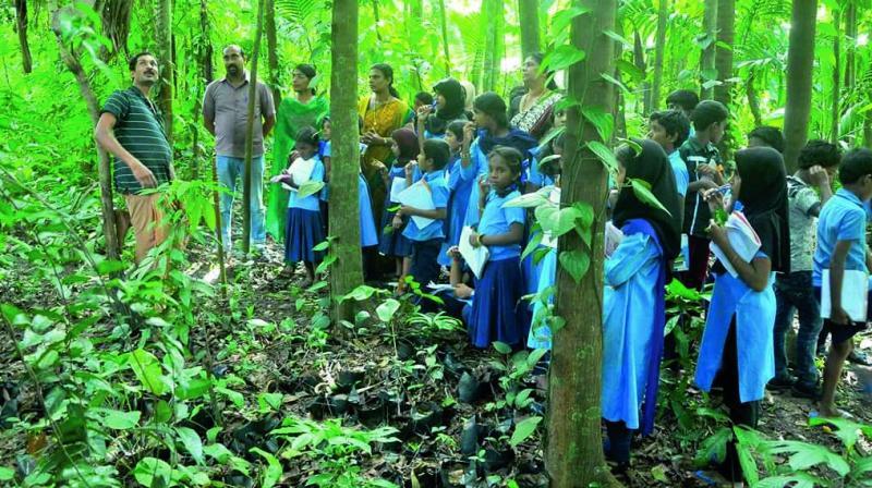 Vijeesh interacts with students. (Photo – Jayan Bose)