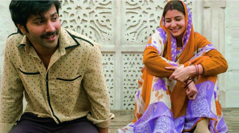 Varun Dhawan and Anushka Sharma from the sets of Sui Dhaaga.