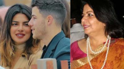 Madhu Chopra met Priyanka Chopra's boyfriend Nick Jonas for the first time.