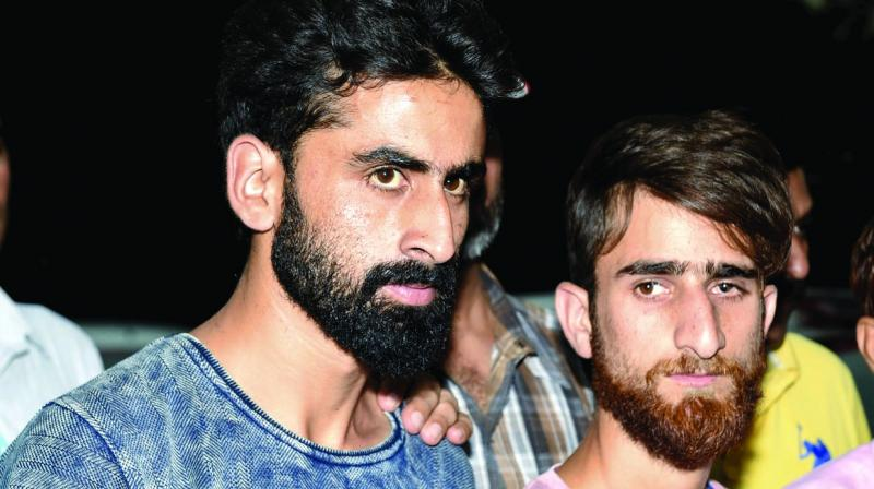 Delhi police Special Cell arrested two suspected terrorists, Parwez Rashid and Jamshed Jahoor, affiliated to the Islamic State in Jammu and Kashmir (ISJK), in New Delhi on Friday. (Photo:PTI)