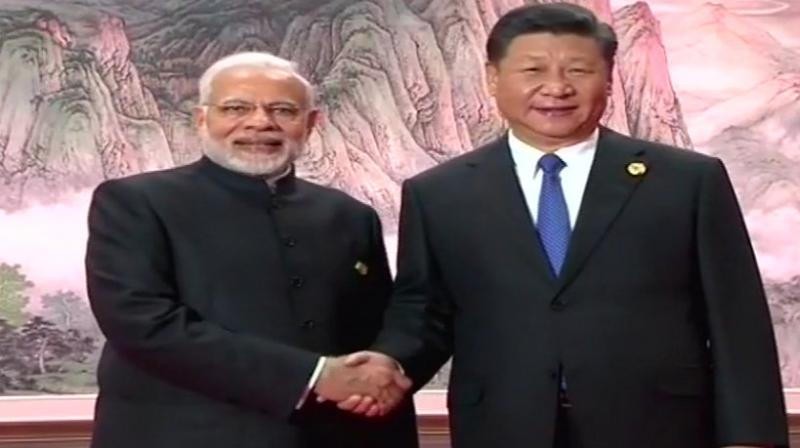PM Modi had detailed discussions with President Xi on bilateral and global issues on the sidelines of Shanghai Cooperation Organisation summit. (Photo: ANI/Twitter)
