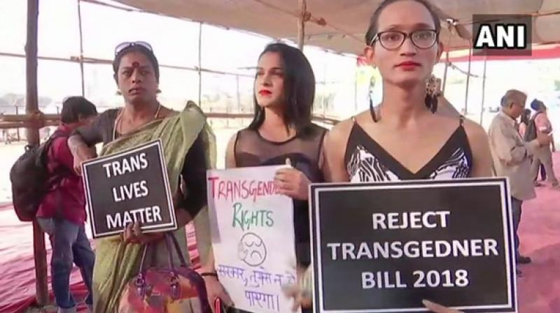 The Transgender Persons (Protection of Rights) Bill, passed last week in LS, has been received with outcry from the transgender group, urging the govt to either withdraw or send the Bill for review. (Photo: ANI)