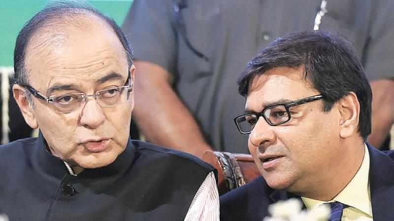 Finance Minister Arun Jaitley with RBI governor Urjit Patel at an event. (Photo: PTI)