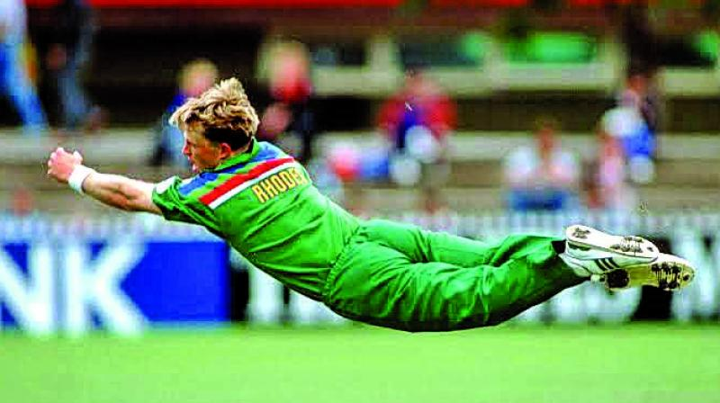 A file picture of Jonty Rhodes used for representational purposes only