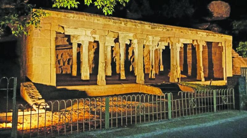 All monuments have been illuminated ahead of Modi-Xi summit at Mahabalipuram.  (Photo: Asian Age)
