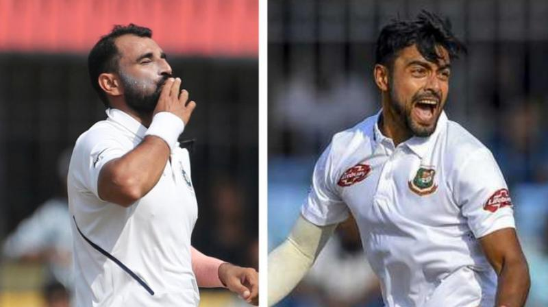 Bangladesh pacer Abu Jayed is aiming to bowl like Mohammed Shami, whose heroics helped India defeat the former's side in the first Test match. (Photo:AP/AFP)