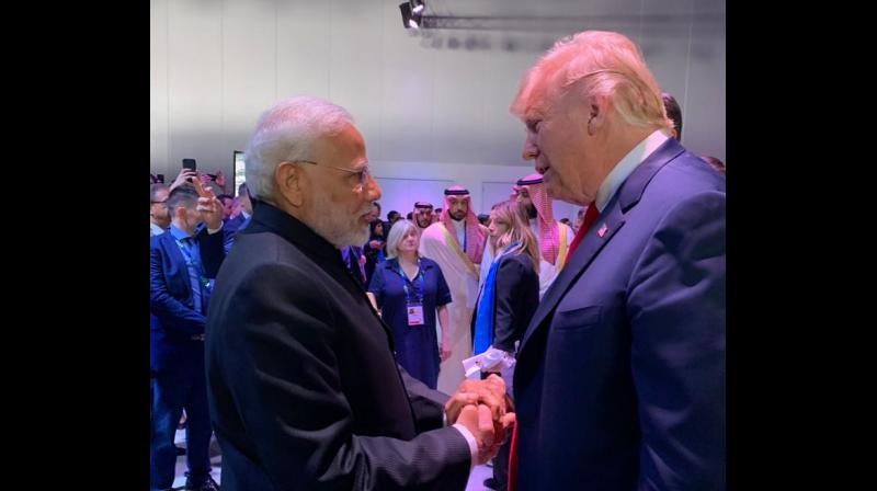 PM Narendra Modi with the USA President Donald Trump (Photo: Twitter)