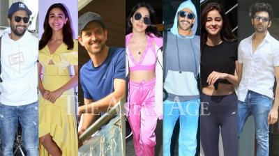 Bollywood celebrities like Hrithik Roshan, Alia Bhatt, Kartik Aaryan, Vicky Kaushal, Kiara Advani, Ananya Panday and others were snapped in the city of dreams, Mumbai. (Photos: Viral Bhayani)