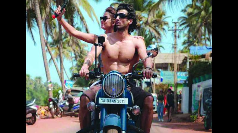 Aditya Roy Kapur is quite cute and in the film he is not allowed to keep his shirts on for very long.