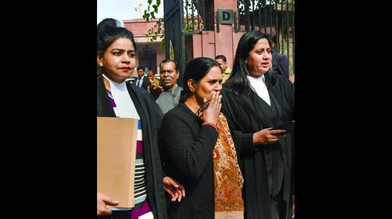 Nirbhaya's mother Asha Devi at the Supreme Court on Friday. (Photo: PTI)