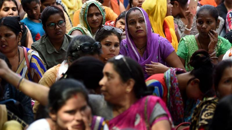 The right to live with dignity clause takes into account the emotional abuse of women. (AFP Photo)