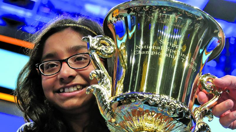 Winner of the National Spelling Bee in the US Ananya Vinay was the eye of the racial storm recently.