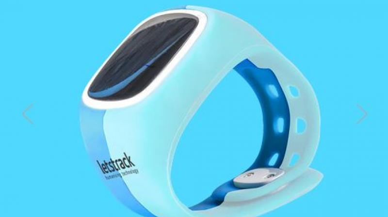 This wearable available on letstrack.in is mainly used to track children when they go to school, tuitions or out to play.