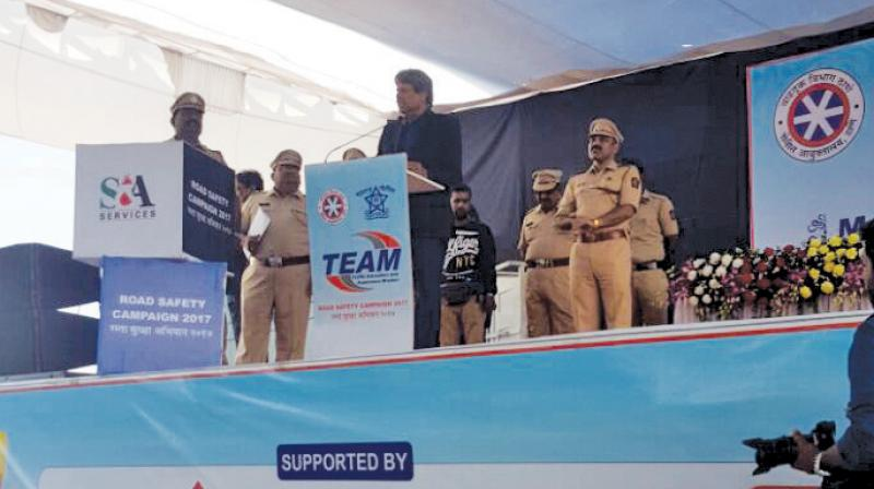 Kapil Dev at an event in Thane on Monday.