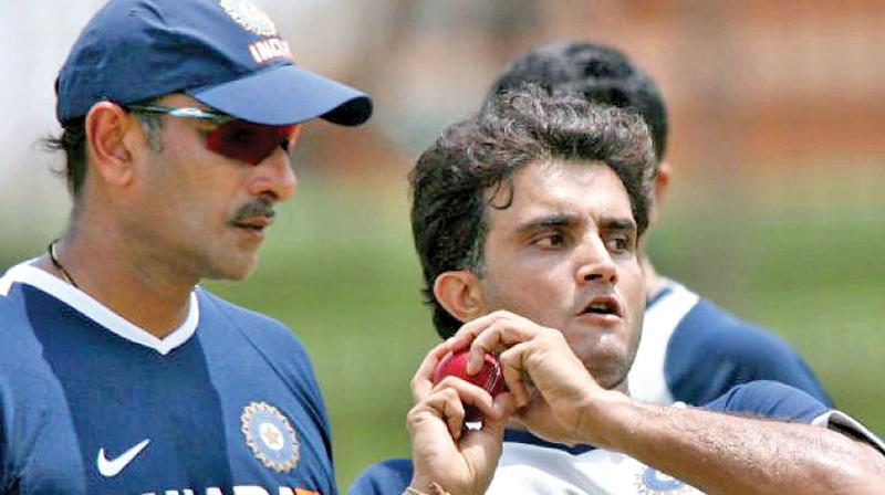 A file photo of Ravi Shastri (left) and Sourav Ganguly.