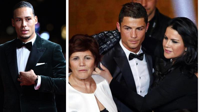"""Cristiano Ronaldo's sister, Katia Aveiro failed to see the funny side after Liverpool defender Virgil van Dijk joked that the Portuguese forward was """"not really a rival"""" in the Ballon D'Or award voting. (Photo:Twitter/AFP)"""