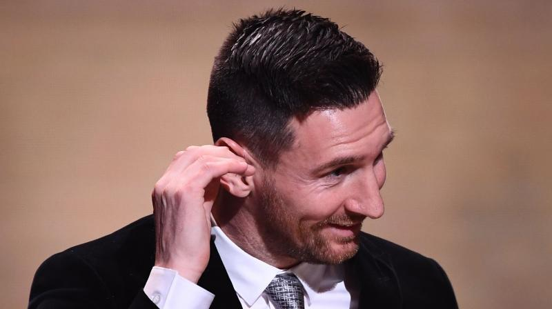 Lionel Messi said he is aware that his 'retirement is approaching'. (Photo:AFP)