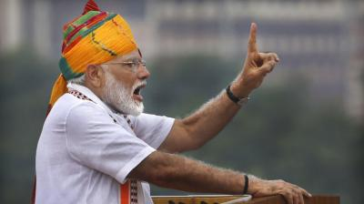 73rd IndiaIndependence Day celebrations: PM Narendra Modi delivers Independence Day speech from Red Fort. (Photo: AP)