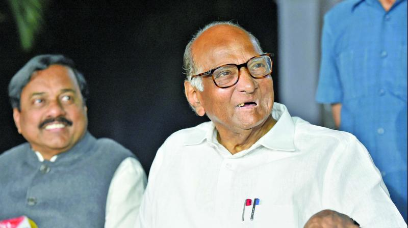 Amidst the ongoing political tussle in Maharashtra, BJP MP Sanjay Kakade met NCP Chief Sharad Pawar's at his residence here on Sunday. (Photo: File)