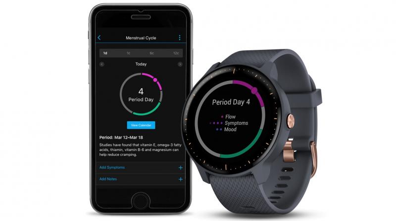 The comprehensive feature allows women with active lifestyles to track their cycle.