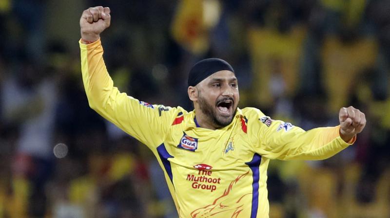 Chennai Super Kings' Harbhajan Singh. AP Photo