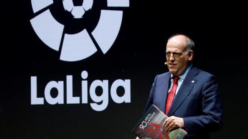 La Liga president Javier Tebas.