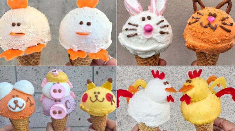The ice cream parlour Eiswelt Gelato is the only one that makes unique animal shaped ice creams with marshmallows and sprinkles. (Photo: Instagram/Eiswelt Gelato)