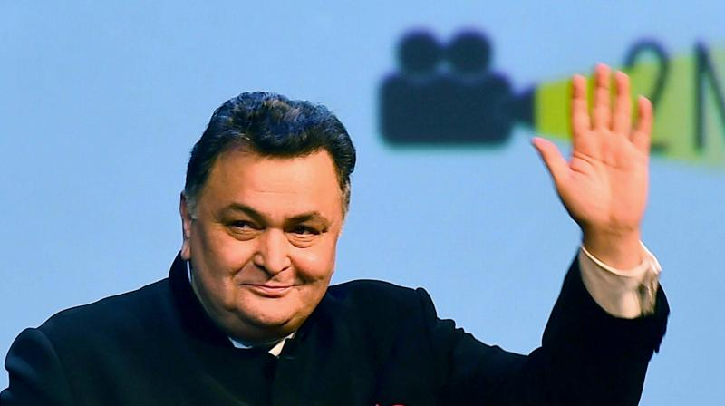 In this September 2, 2016 file photo, Bollywood actor Rishi Kapoor waves to fans at the inauguration of the BRICS Film Festival at Siri Fort Auditorium in New Delhi. Rishi Kapoor lost his battle with cancer and died in Mumbai on Thursday, April 30, 2020. (PTI)