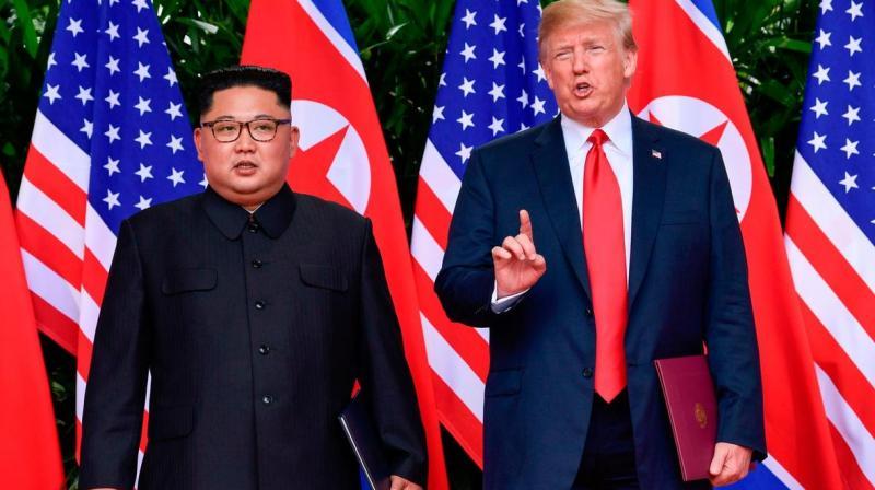 Donald Trump with North Korean leader Kim Jong Un. (AFP file photo)