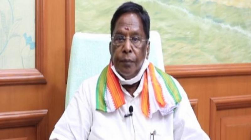 Puducherry Chief Minister V Narayanasamy (ANI)