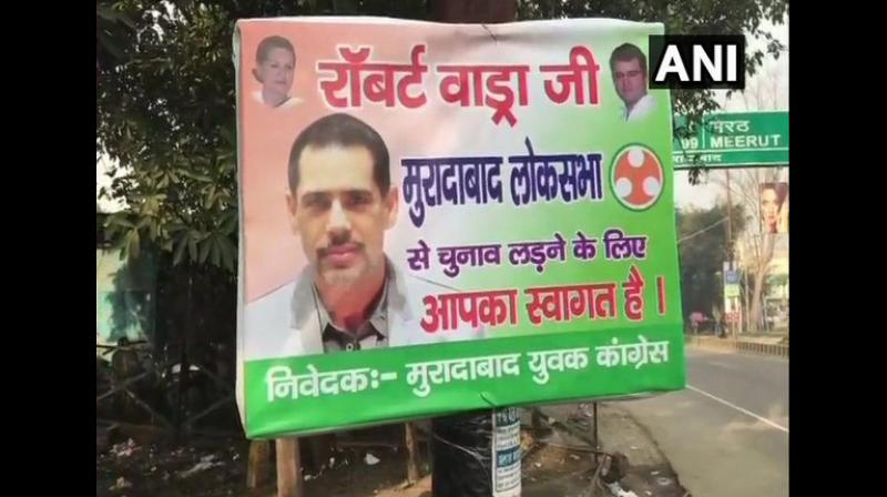 Vadra's comments came shortly after posters appeared in Uttar Pradesh's Moradabad district inviting him to contest the upcoming Lok Sabha polls from the constituency. (Photo: ANI)